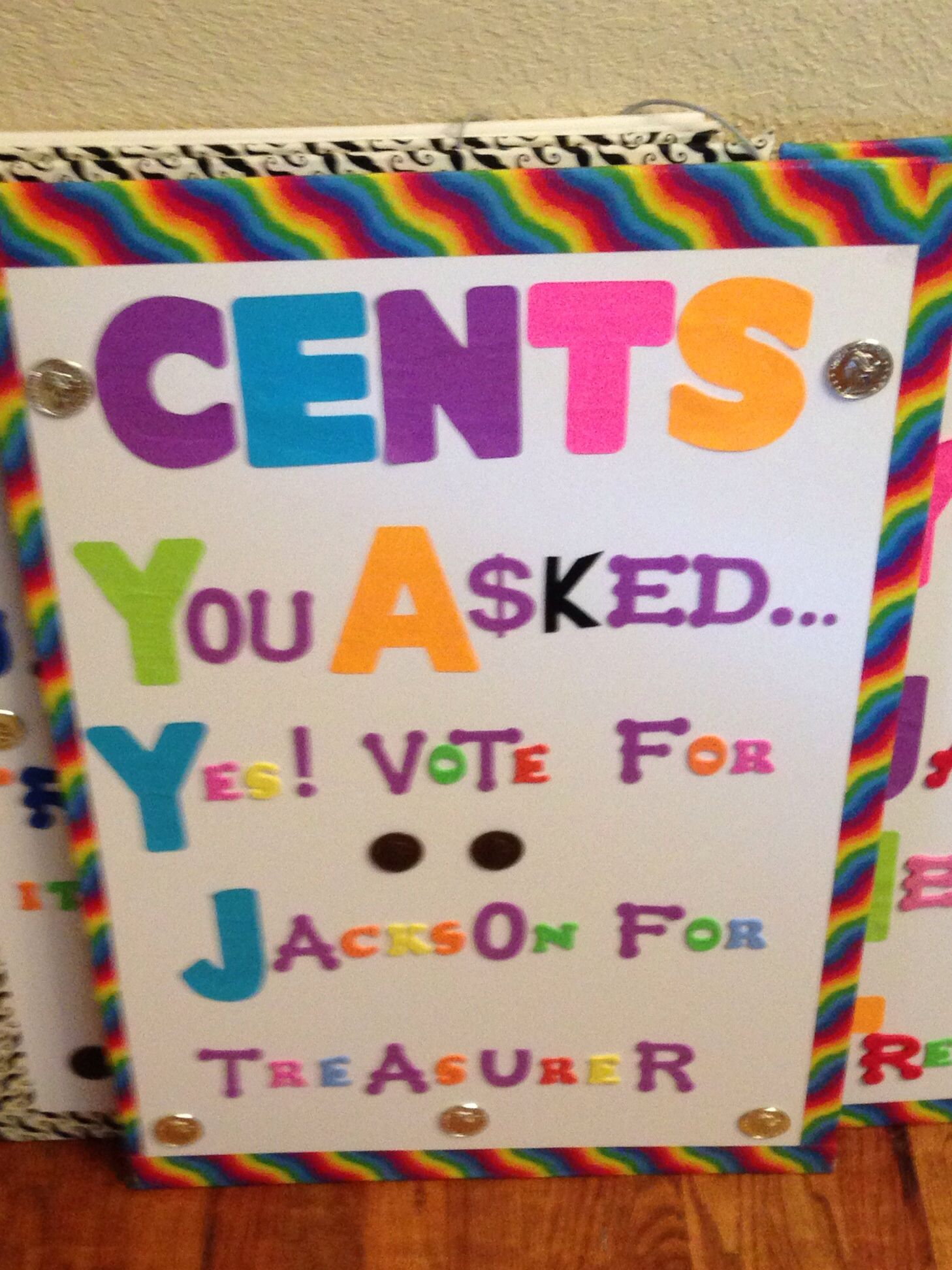 Poster for Elementary Student Council Treasure Thanks Aunt Trina ... for Cool Poster Ideas For School Projects  110ylc