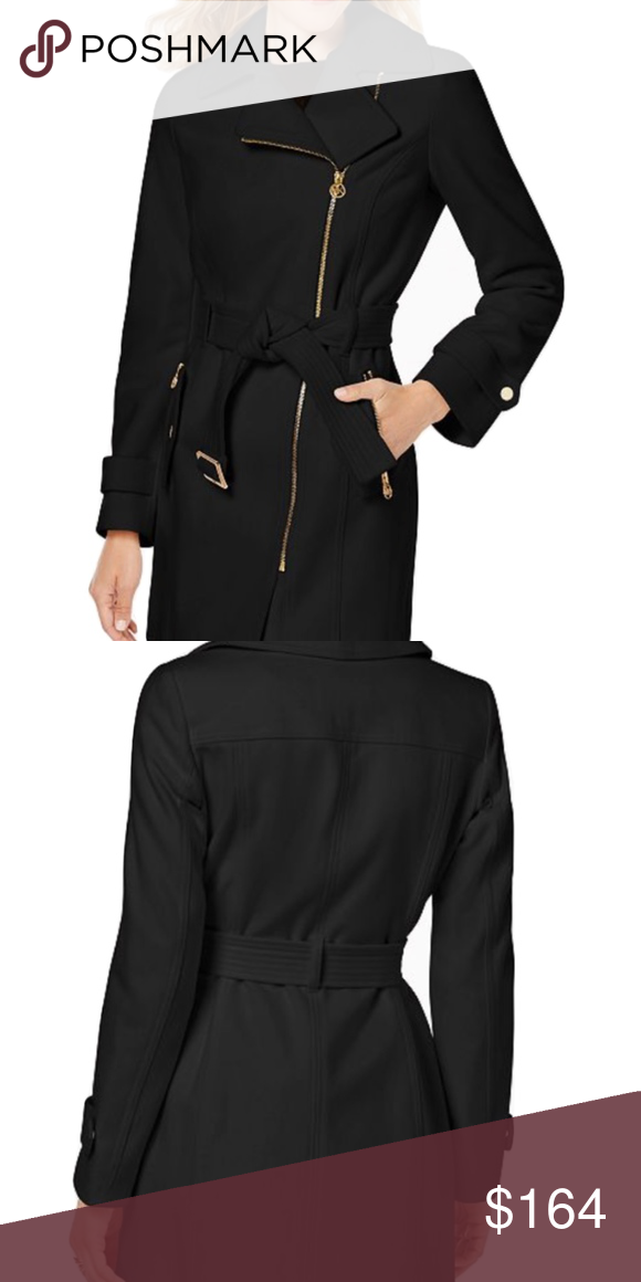 179583c677 MICHAEL Michael Kors Petite Asymmetrical Coat P XL Every wardrobe needs  this chic coat from MICHAEL