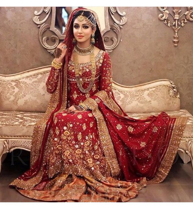 Red Pakistani Wedding Dresses: #buntoKazmi Pakistan