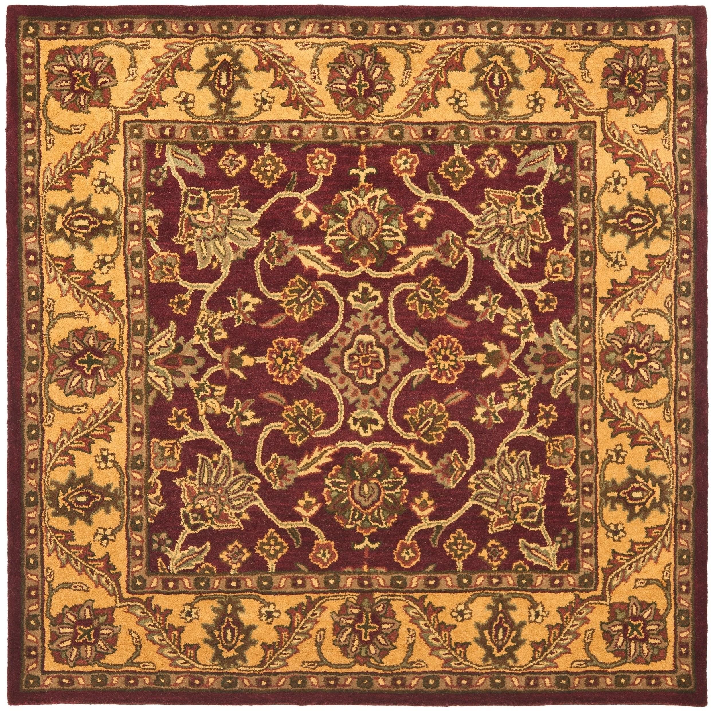 Safavieh Handmade Golden Juniper Home Burgundy Gold Wool Rug 6