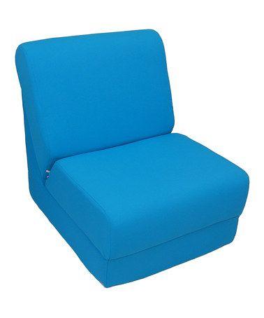 Loving this Aqua Canvas Teen Sleeper Chair on #zulily! #zulilyfinds