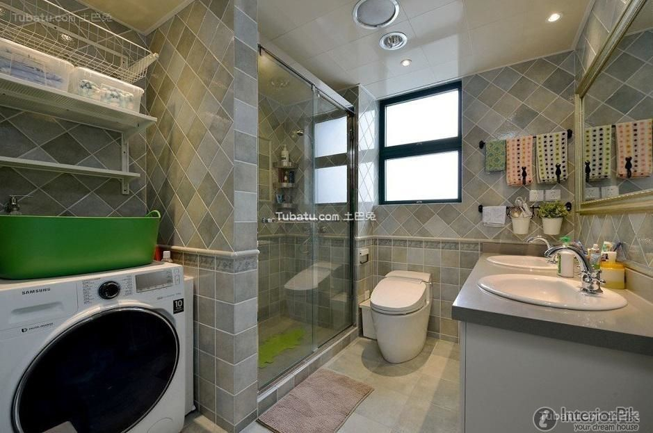 American modern bathroom design and decoration pictures