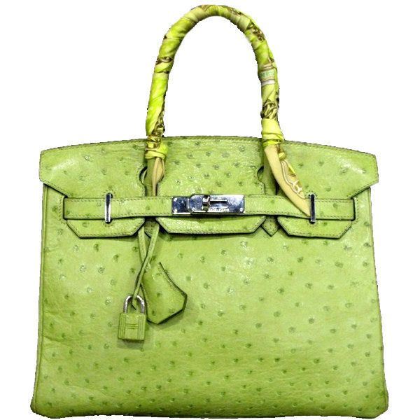 Hermes 30cm Lime Green Ostrich Leather Birkin Bag found on Polyvore ... 208a29d86b2aa
