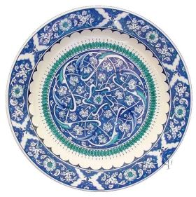 Iznik Design Ceramic Plate - Hurde Rumi
