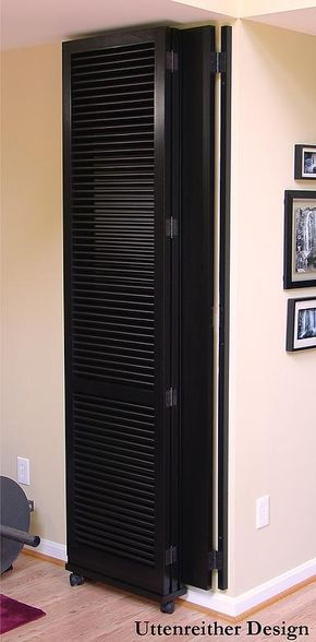folded room divider attached and hinged to the wall hinged rh pinterest com