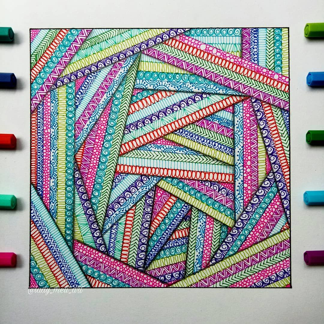 "Mandalas, Zentangles, Doodles on Instagram: ""Hi guys! A new drawing for today �, it took me a bit longer than I thought. � I almost gave up �but I would love to show you today! So,…"""