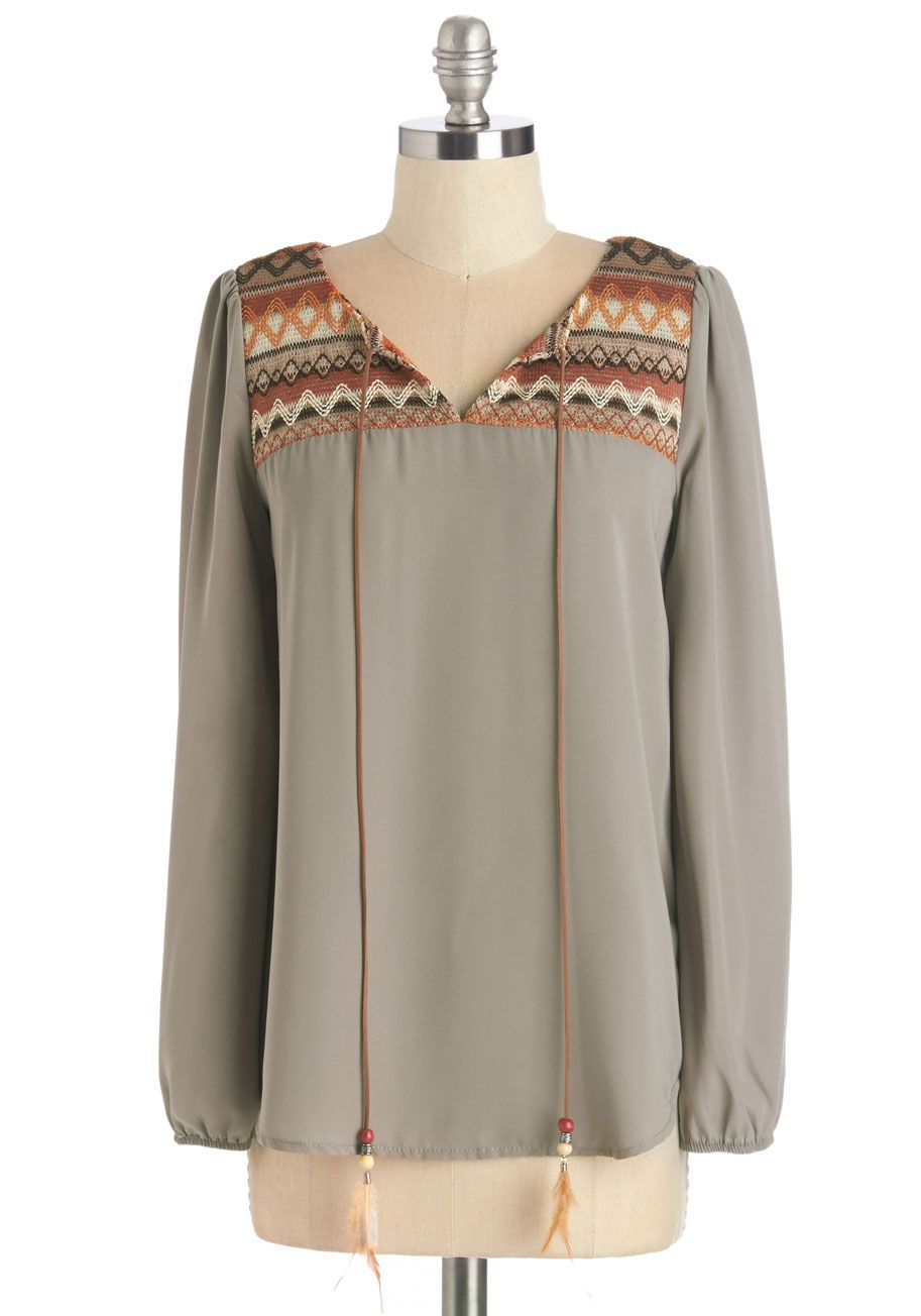 f7e50b91f8e Let your signature style shine in this taupe blouse!  tan  modcloth