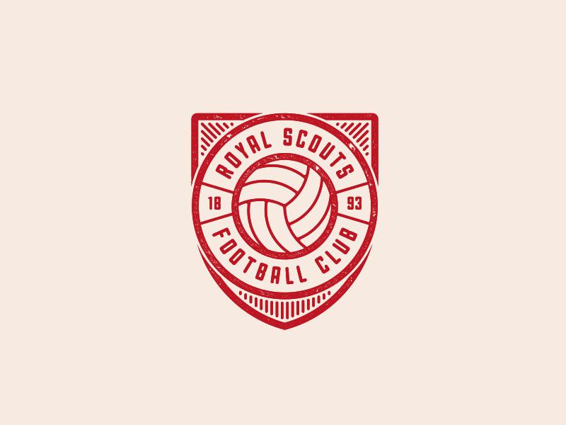 Royal Scouts Football Club Logo Football Logo Design Coaching Logo Football Logo
