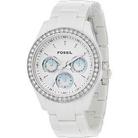 White Fossil watch. Love it!