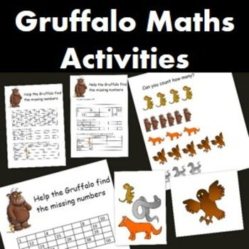 Gruffalo Maths Activity 1st Grade Pinterest Math