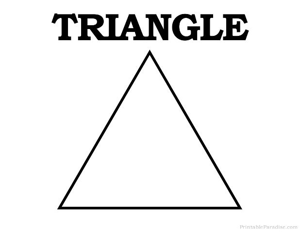 Printable Triangle Shape