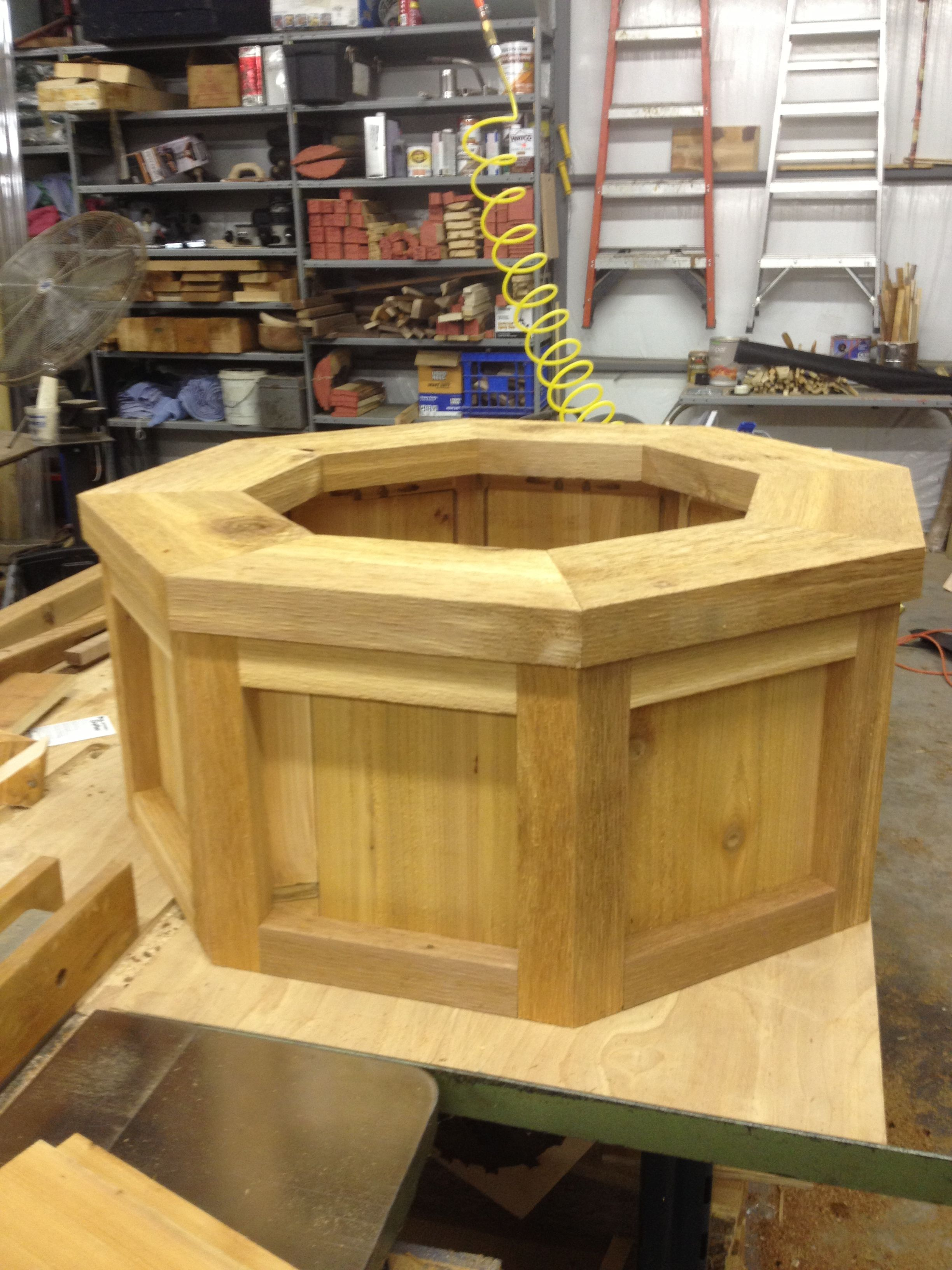Octagon Planter Outdoor Flower Boxes Diy Planters