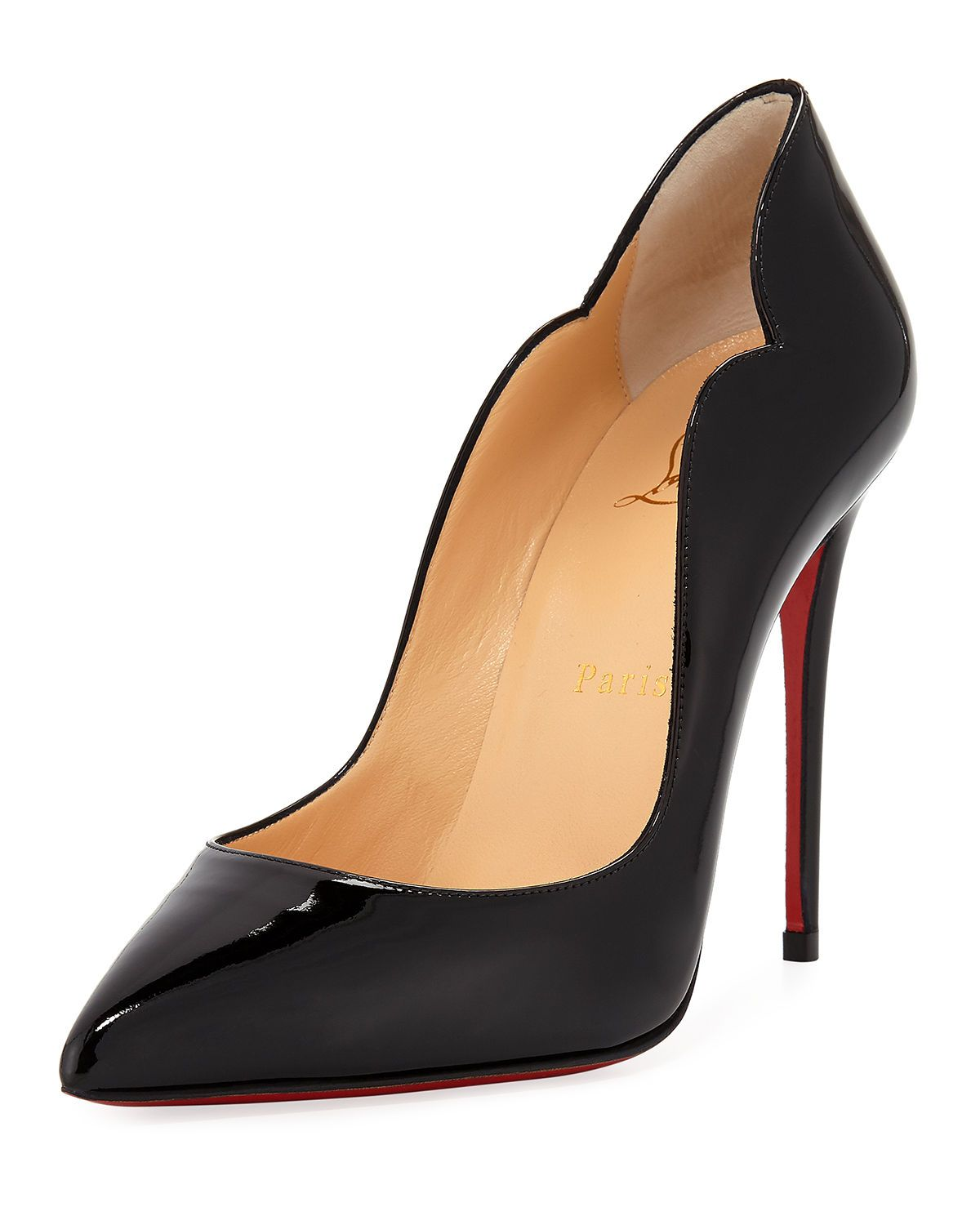 d868e8835458 Hot Chick 100 Patent Red Sole Pumps
