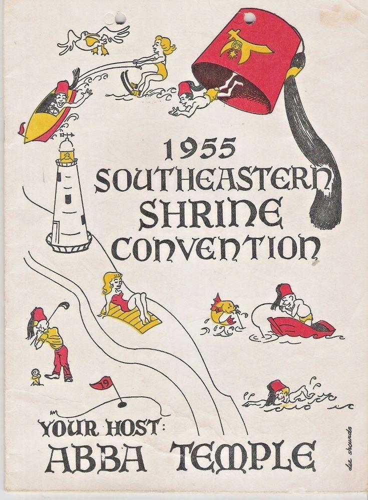 1955 southeastern shrine convention abba temple books for sale rh pinterest com