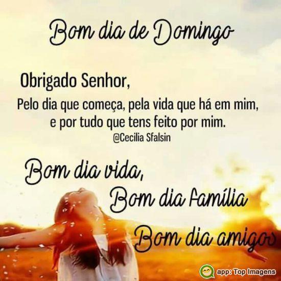 Bom Dia vida Bom Dia Familia Bom Dia Domingo!