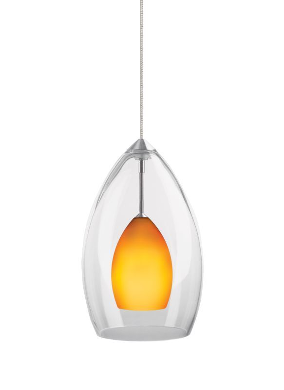 Tech Lighting 700FJFIRCM FreeJack Inner Fire Amber Raindrop Glass