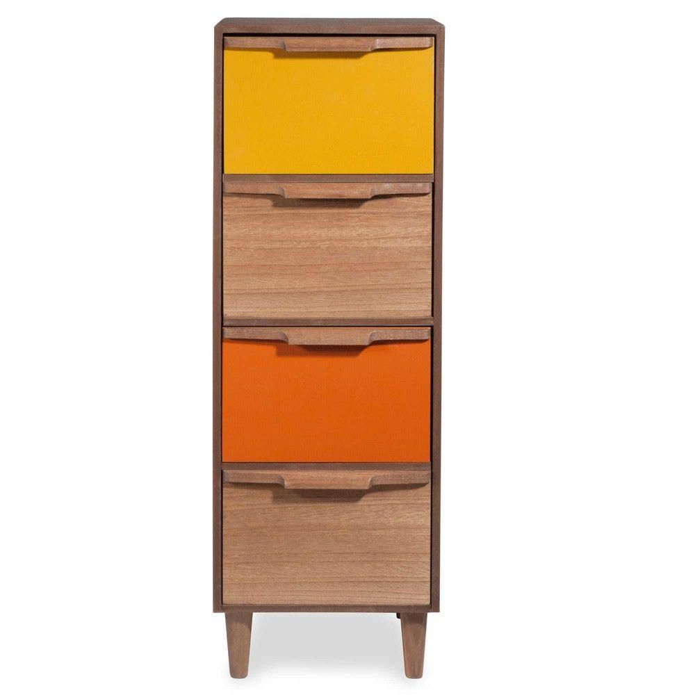 Tania Tricoloured 4 Drawer Storage Unit Maisons Du Monde  # Meuble Collection Brady