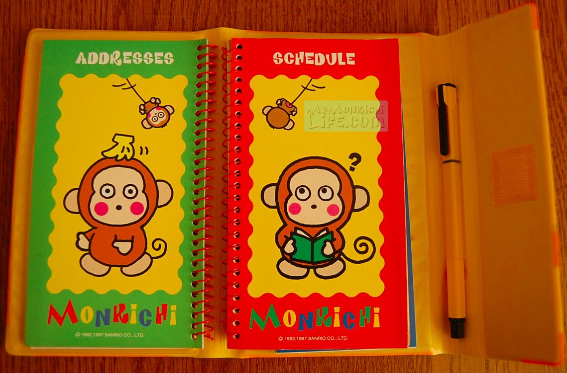 Monkichi Schedule Planner Address Book Sanrio 1997 | My Monkichi Life
