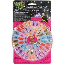 Bulk Kids Artificial Nail Sets 60 Ct Packs At Dollartree Com Fake Nails For Kids Artificial Nails Nail Set