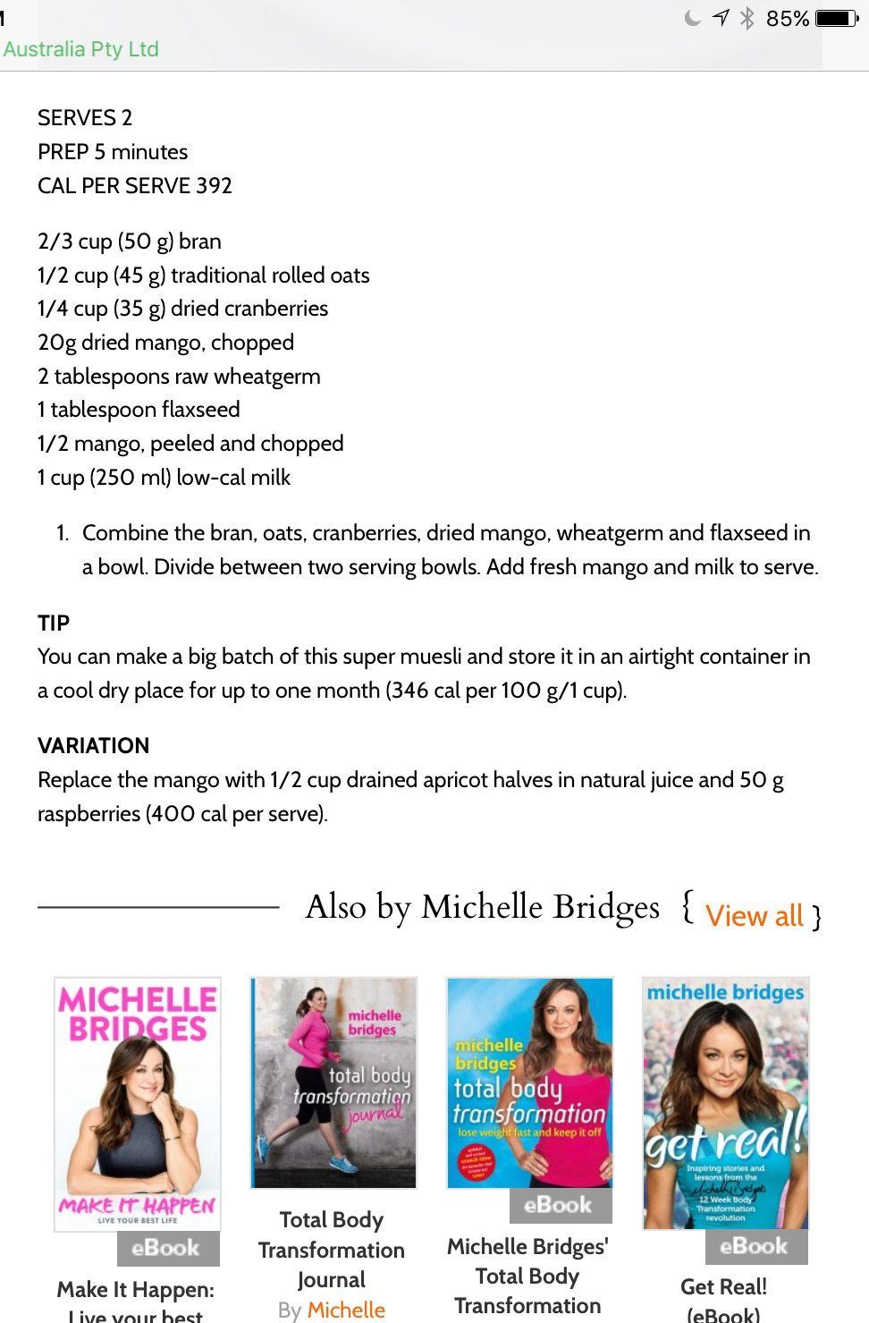 Michelle Bridges Ebook