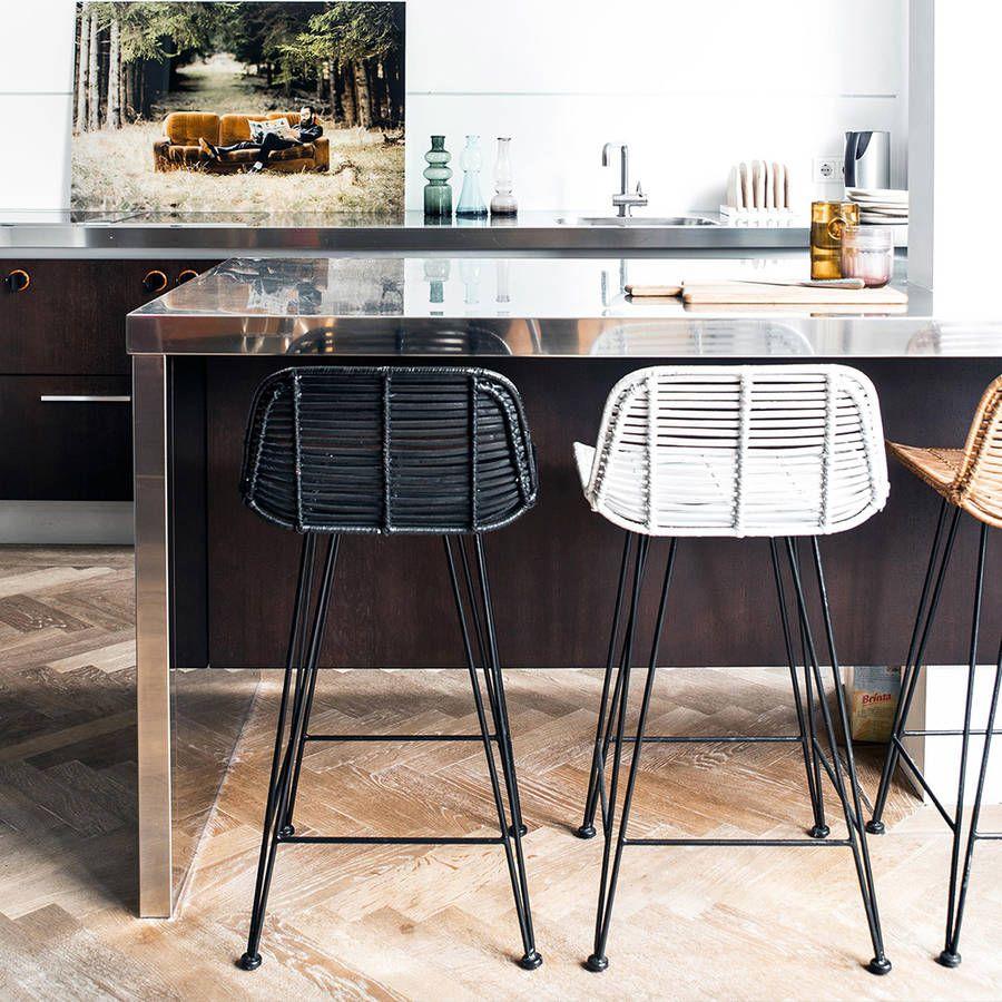 Rattan Kitchen Furniture Scandi Style Rattan Breakfast Bar Stool Breakfast Bars Dutch