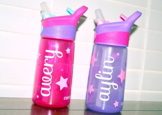 Custom Personalized Kids Contigo Water Bottle With Initials Name