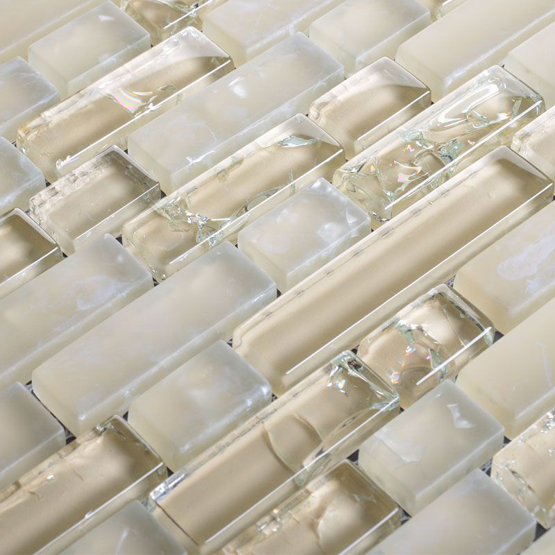 glass mosaic tiles crystal ice crack tile bathroom wall strip stickers kitchen backsplash hc081
