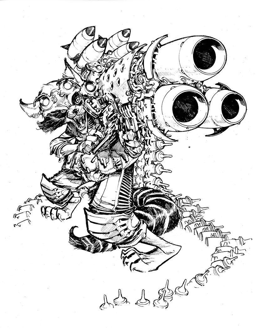 Rocket Raccoon, by Eric Marvel universe