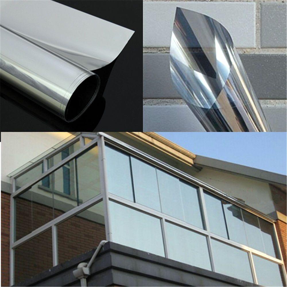 House window sunshade design  mirror silver insulation solar reflective window film one way tint