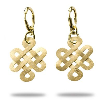 8a05b1abf4f Diane von Furstenburg by H.Stern collection - Love Knot earrings in 18k  yellow gold.
