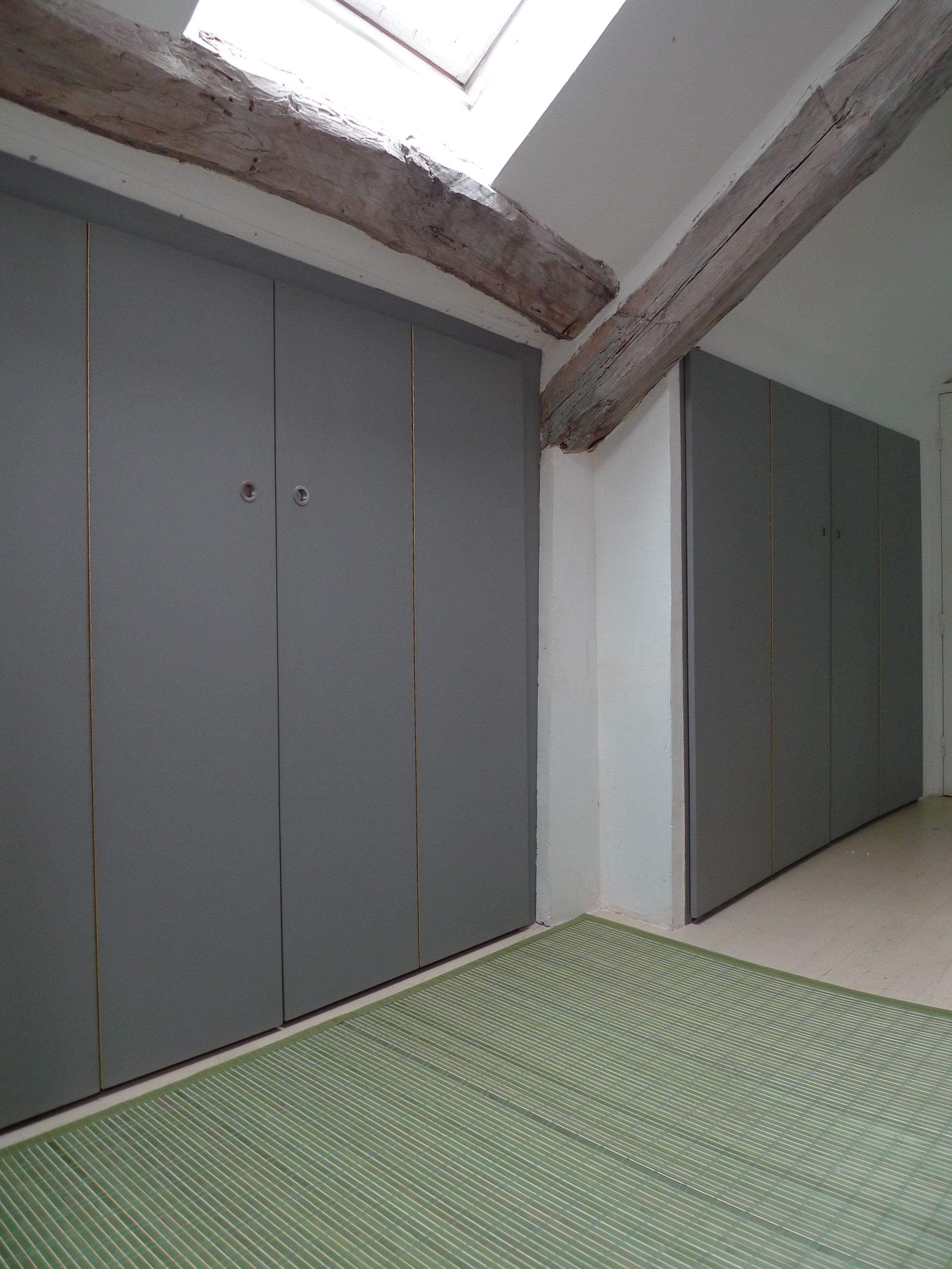 Portes De Placard Sous Comble Atelier Hamot Placard Sous Comble Dressing Sous Combles Porte Placard