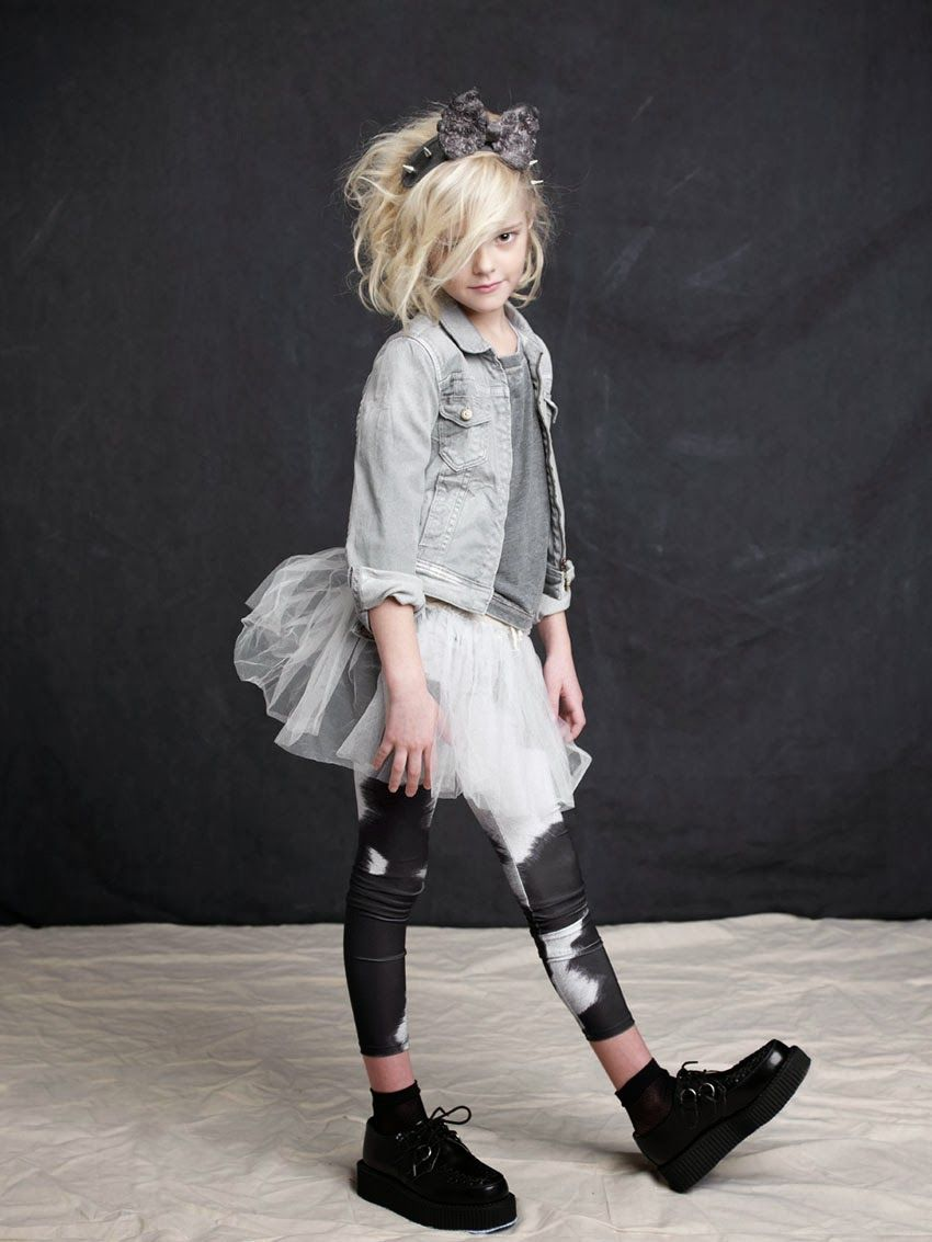 bed653c6e4 Love the jean jacket with the tulle skirt and funky black leggings. Little  girl #photography by Katrinal Tang #kids