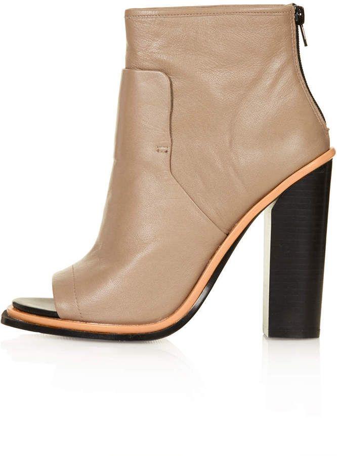 POUNCE Peep Toe Boots @Topshop