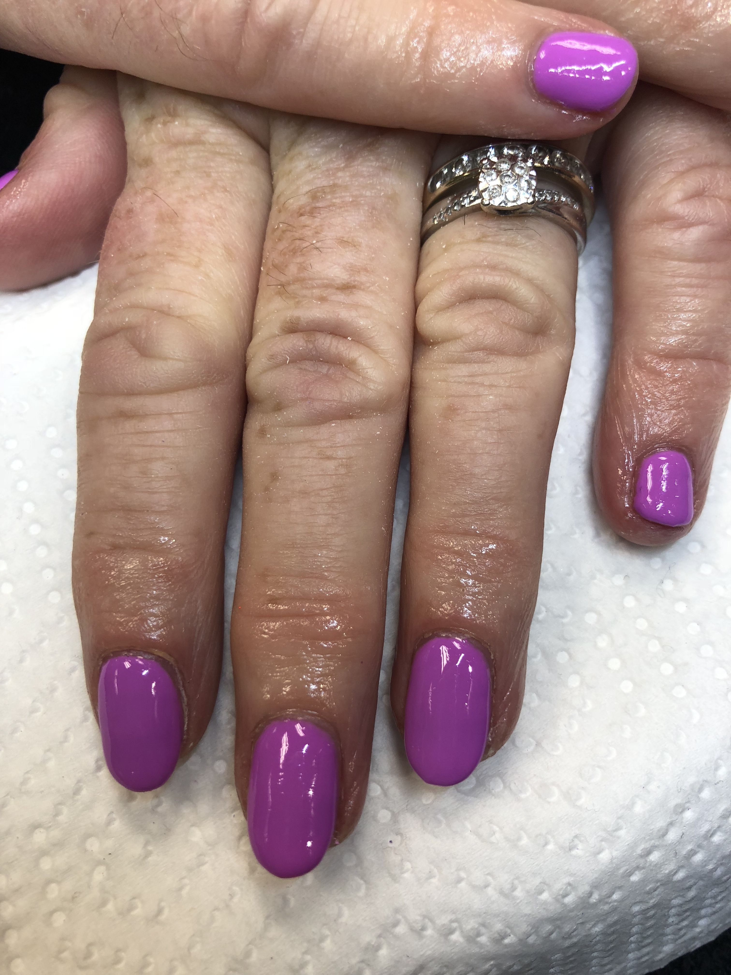 A lovely purple Scenic Route for a lovely holiday  Nails by Helen