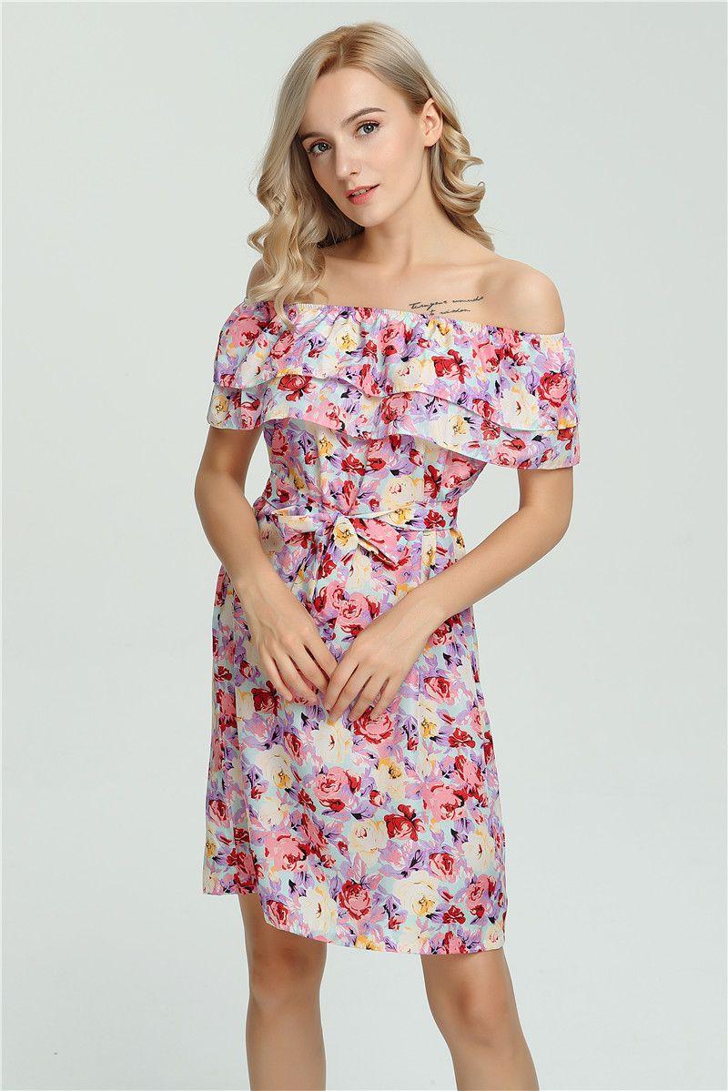 ba693dff2ca9c 2017 New Fashion Women Summer Dress Sleeveless Sexy beach Mini Dress women  6 color Floral Print Beach Chiffon Dress Vestidos