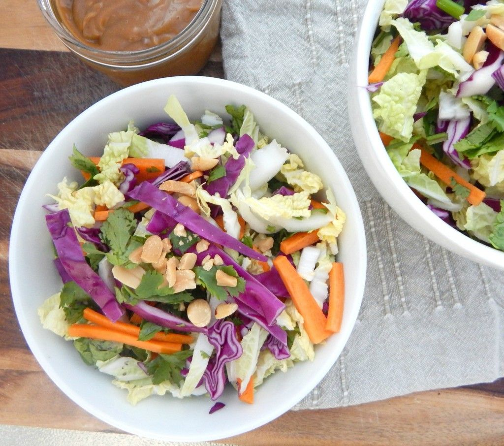 Chopped Thai Salad With Peanut Dressing - Be Whole. Be You.