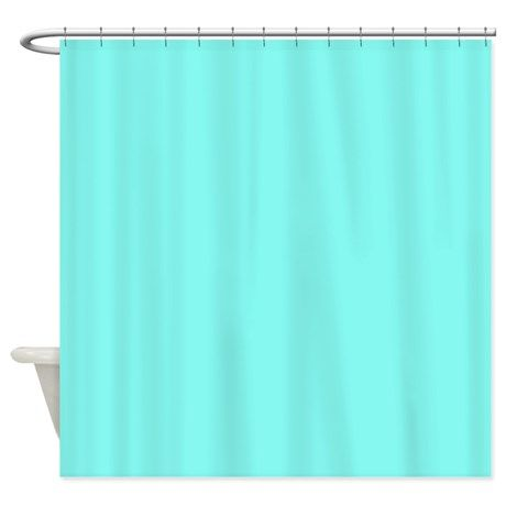 Modern Tiffany Blue Shower Curtain On CafePress