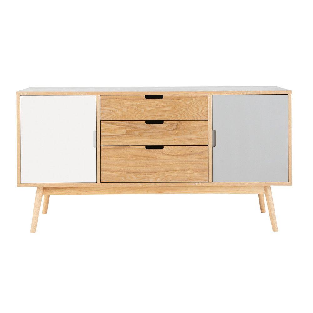 Anrichte Im Vintage Stil Aus Holz B 145 Cm Wei Grau Furniture  # Meuble Tv Quaker