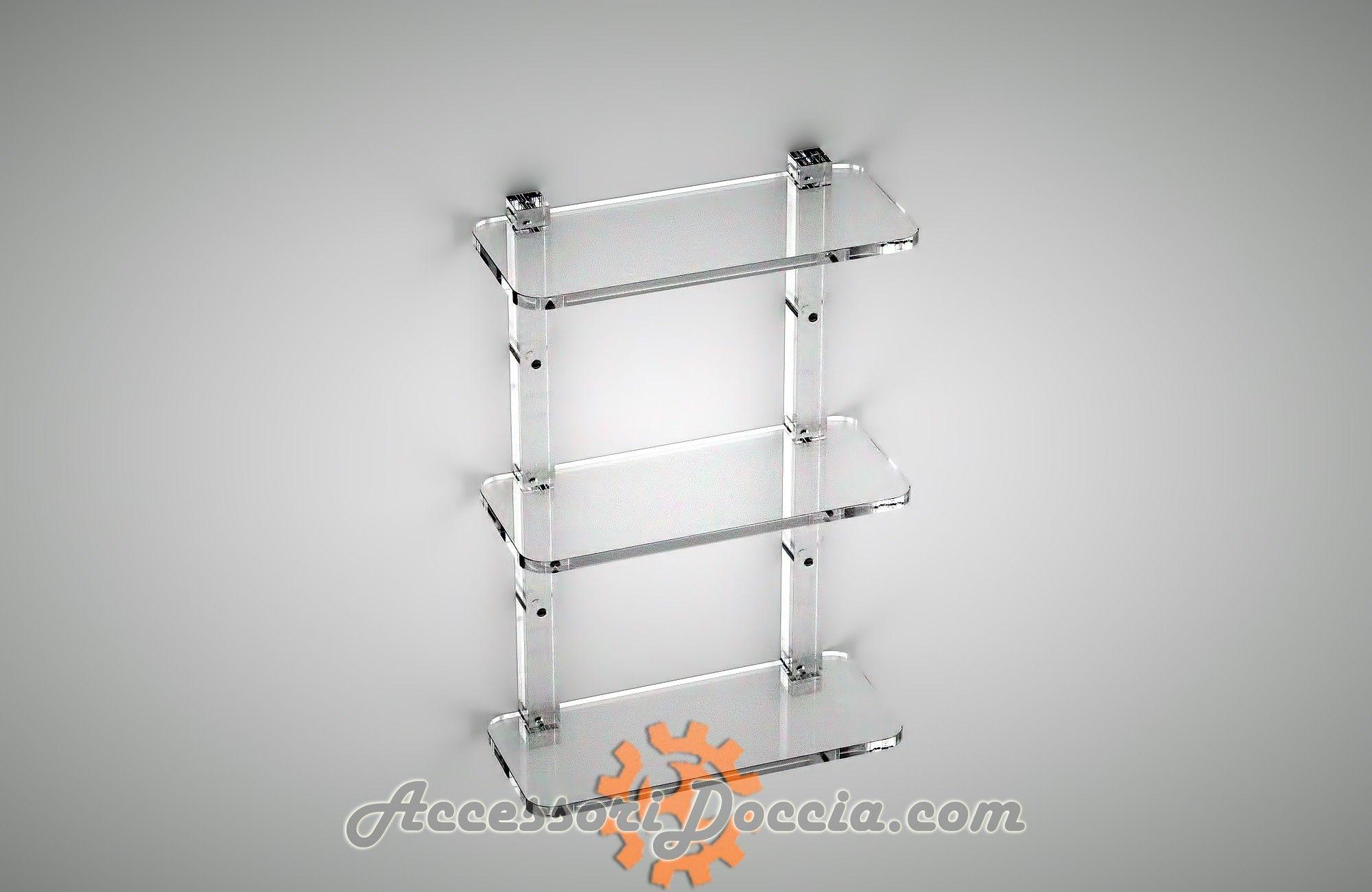 Mensola Doccia Rettangolare Plexiglass Mensole Doccia Doccia