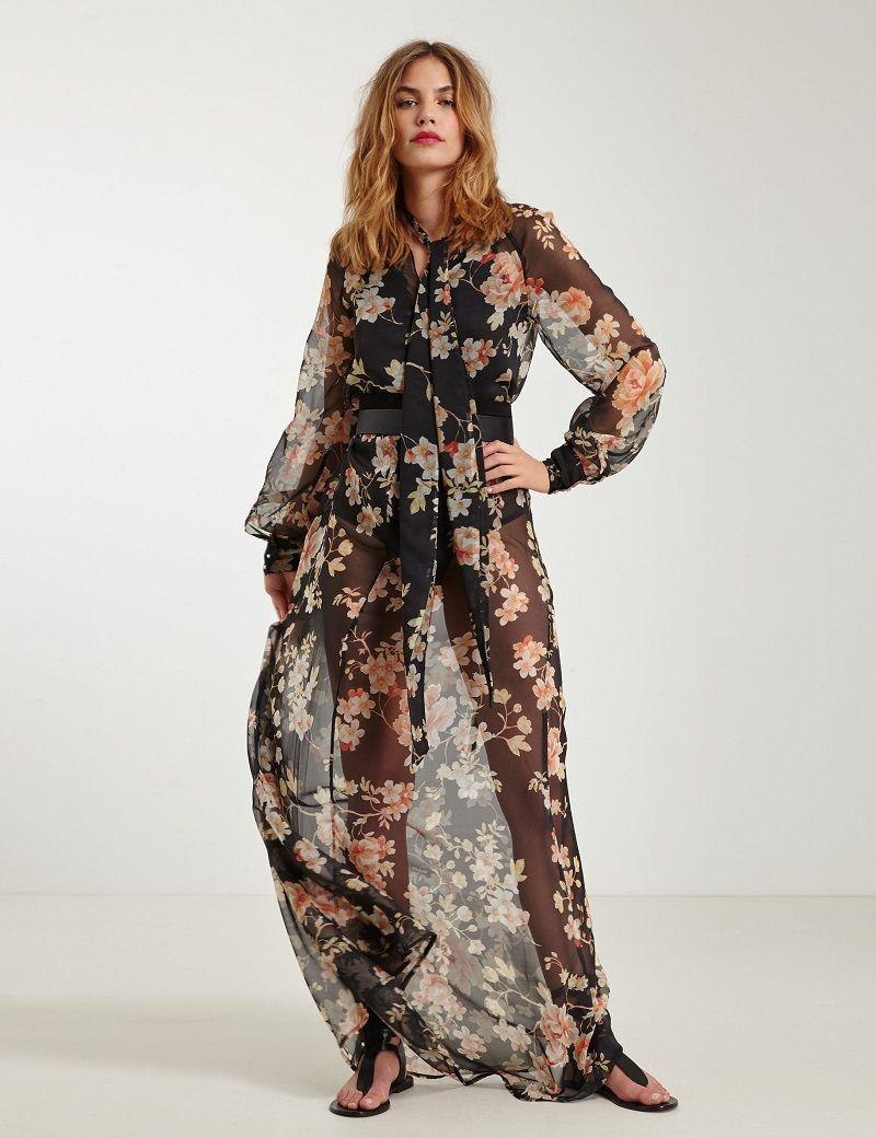 Femme Imprimé Longue Fleuri Voile En Clothes Mode Robe xqYwtzpq