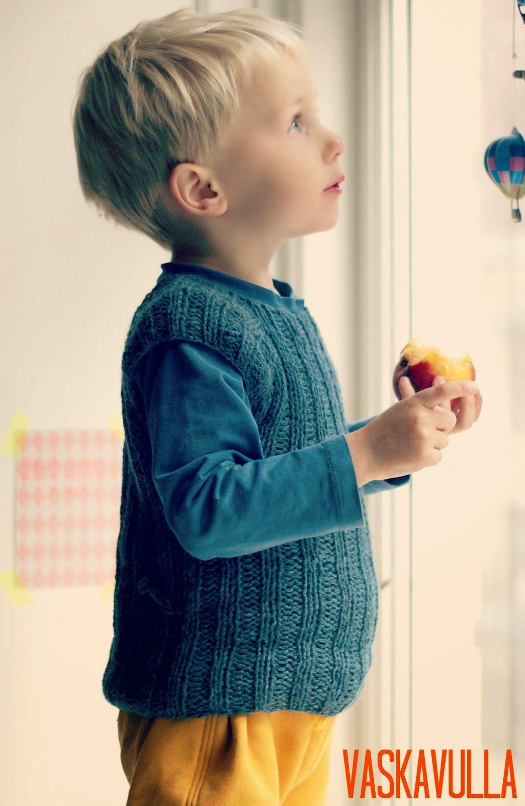 Babysvøb Mary Opskrift vaskavulla: opskrift på strikket barnevest i et stykke | barnestrikk