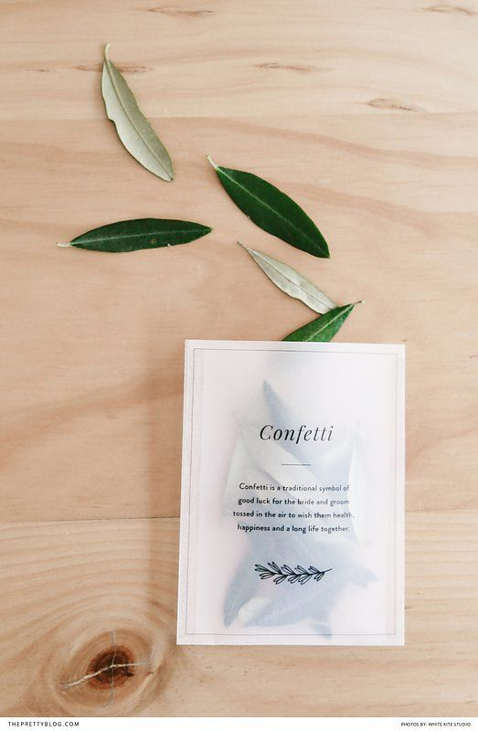 Free DIY confetti bags that are perfect for any wedding ceremony   Design & Photography: White Kite Studio  