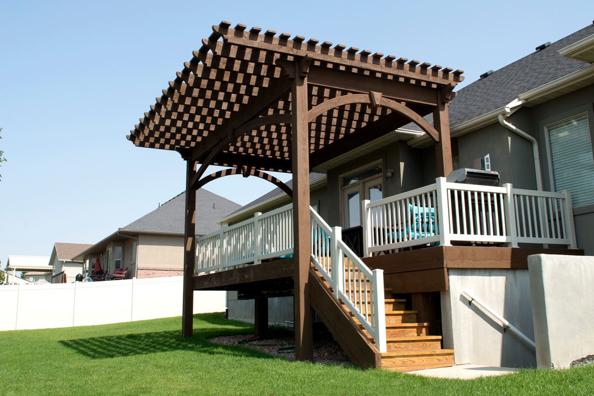 Cantilever Roof Extends Shade Beyond the Backyard Deck ...
