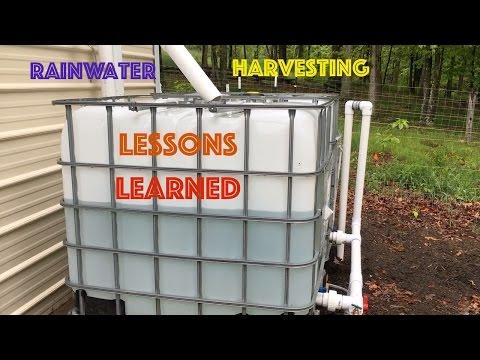 (5) RainWater Harvesting Lessons Learned YouTube