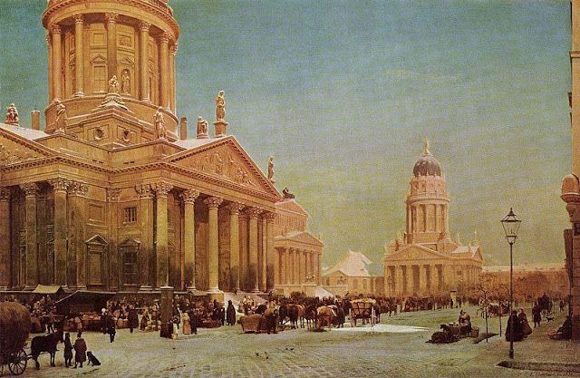 Eduard Gaertner Gendarmenmarkt Im Winter Berlin 1857 Cultural