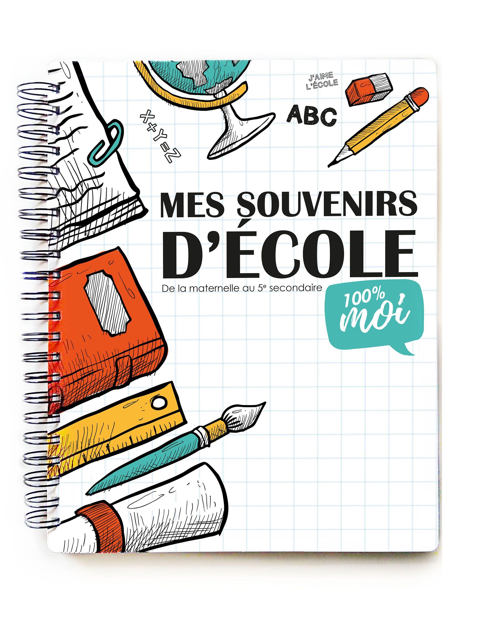 MES SOUVENIRS D'ÉCOLE - POMANGOAdapté au système scolaire Québécois, le cahier contient des  sections de la maternelle au 5  e secondaire, rempli de questions et  de pochettes pour conserver les souven...