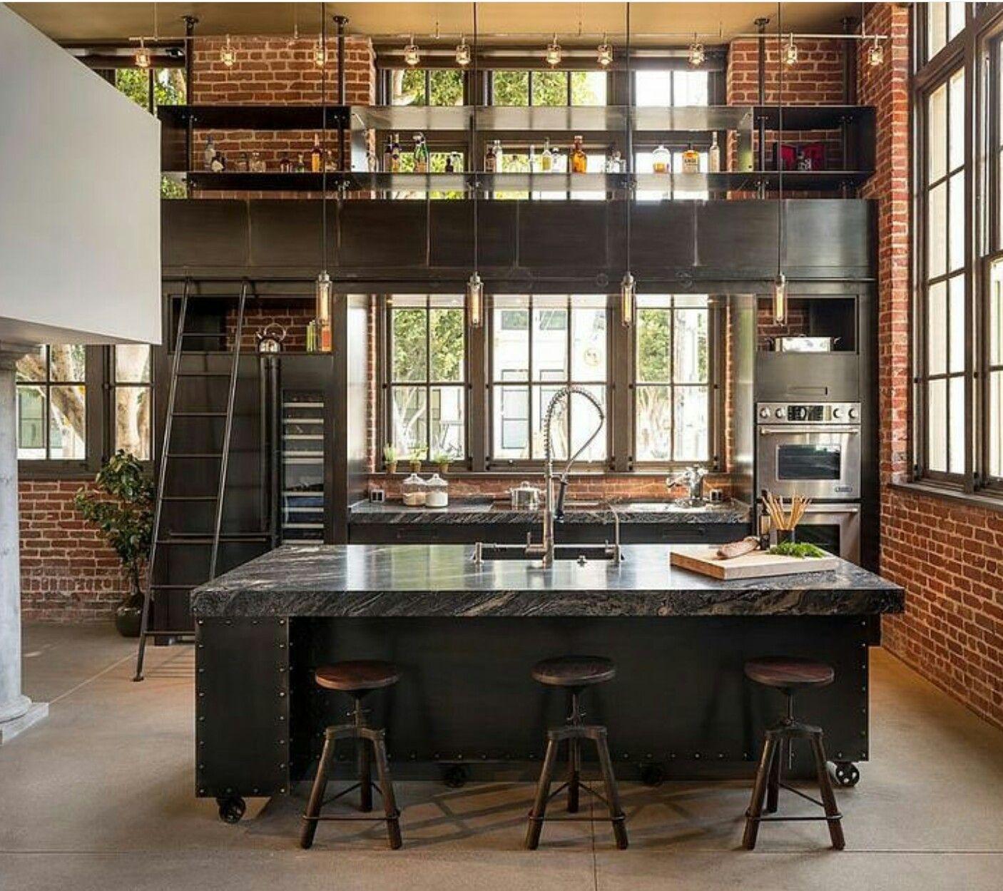 Pin By Kirti Maheshwari On Home Industrial Decor Kitchen