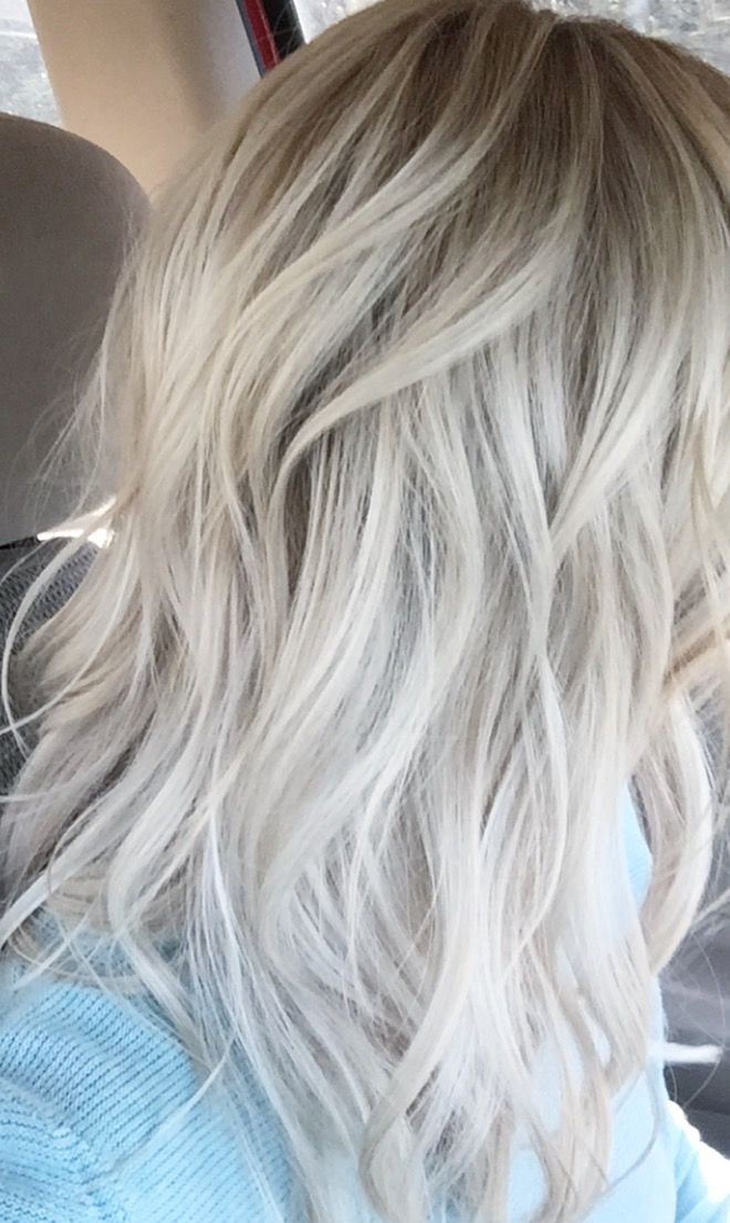 Ice Blonde Color With Baby Lites At Root Httpcoffeespoonslytherin