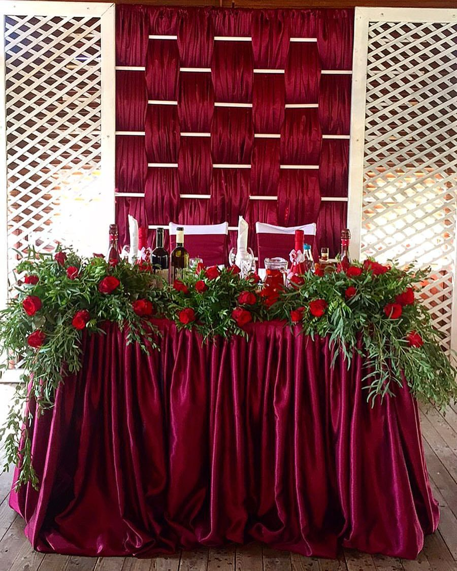 Wedding decorations red  Новости  другое  Pinterest  Backdrops Wedding and Burgundy wedding