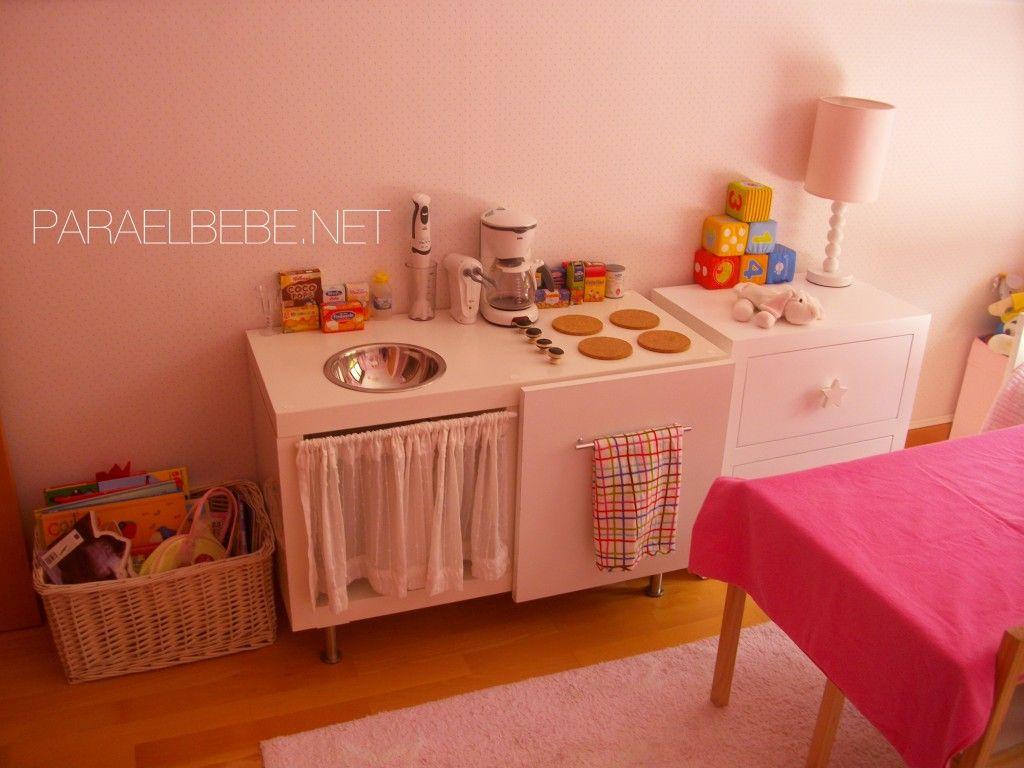 como hacer una cocinita de juguete con un mueble viejo para el bebe